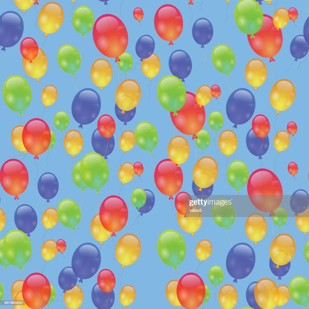 Colorful Air Balloons Seamless Pattern