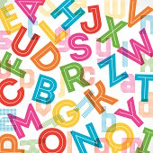Colorful alphabet background
