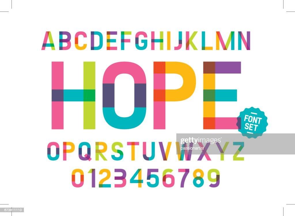 Colorful alphabet
