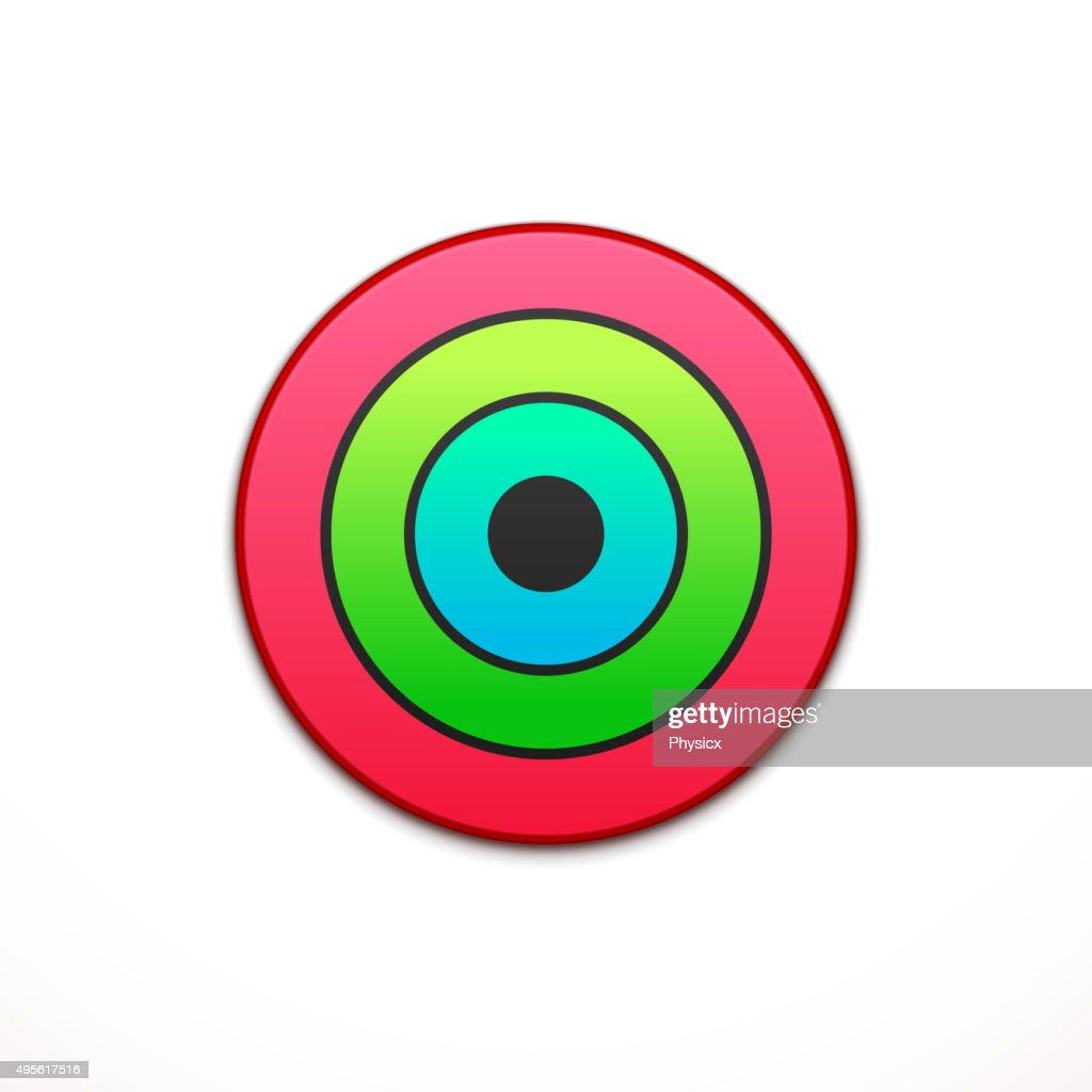 Colorful app icon. Application, button icon