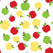 colorful apple pattern