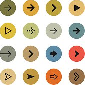Colorful arrows icon set