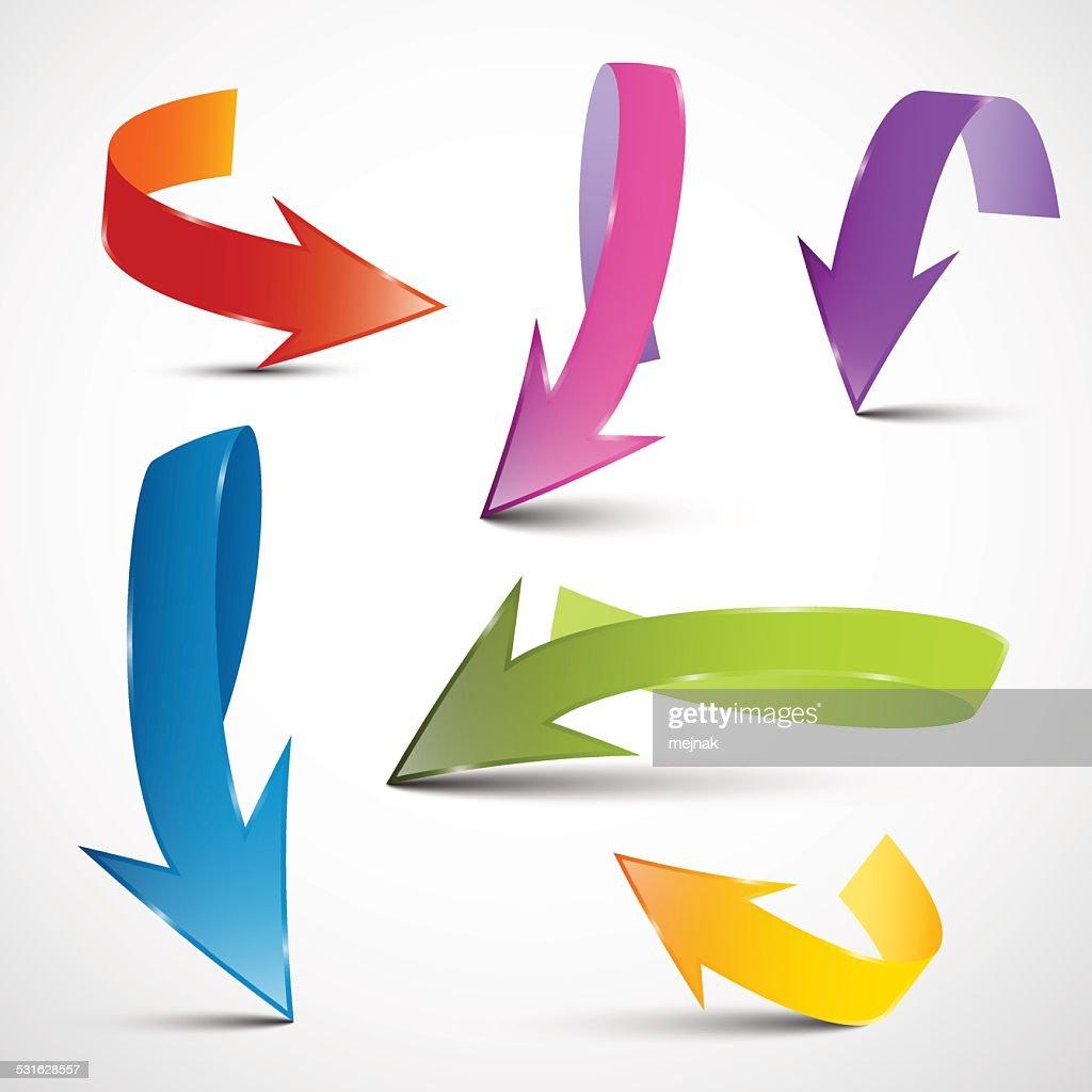 Colorful Arrows Set