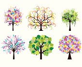Colorful art trees