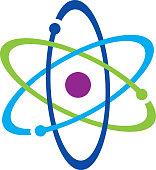 Colorful Atom Icon