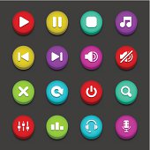 Colorful Audio Buttons