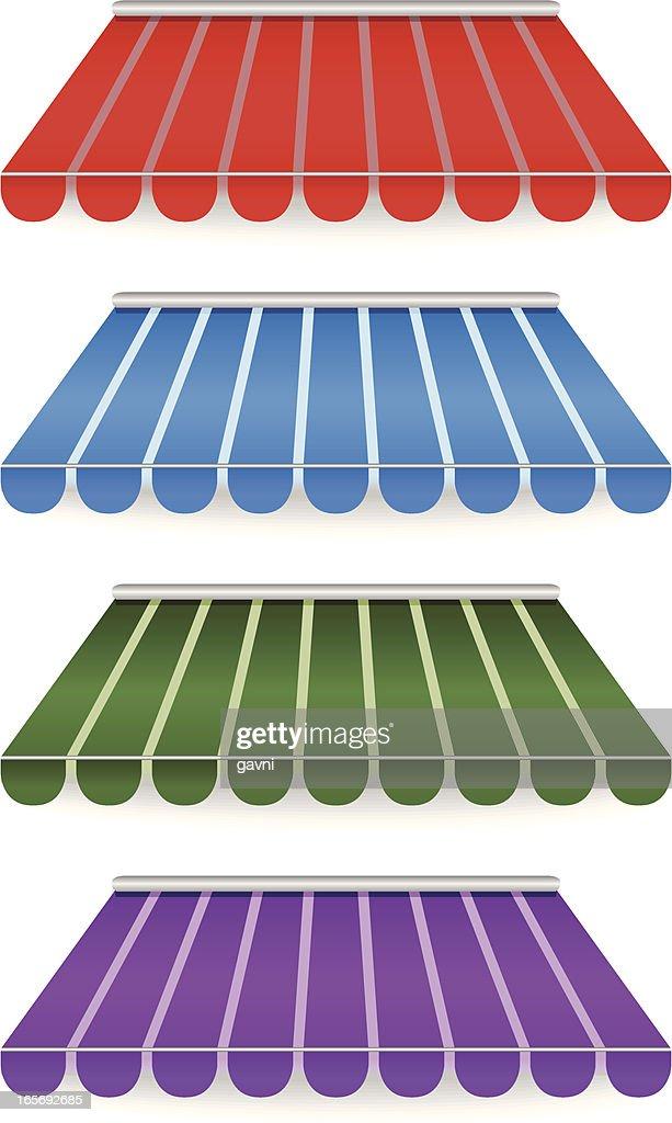 Colorido de toldos : Ilustração de stock
