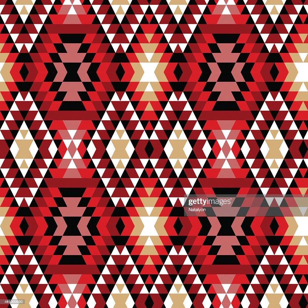 Colorful aztec ornaments geometric ethnic seamless pattern