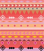 Colorful Aztec tribal pattern vector