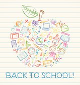 Colorful Back to School Apple