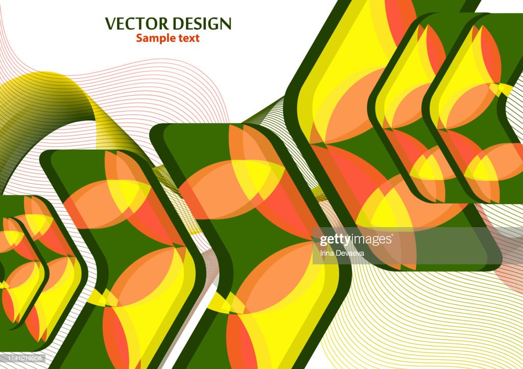 Colorful background creative arrows on abstract blend wave lines background, template with place for text.