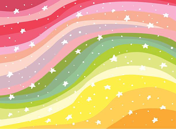 colorful background rainbow illustration - ice cream stock illustrations