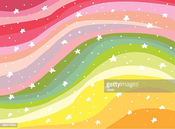 colorful background rainbow illustration - heaven stock illustrations