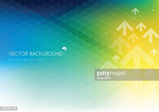 colorful background with fading white direction arrow pattern - focus on background stock illustrations