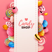 Colorful  background with sweets