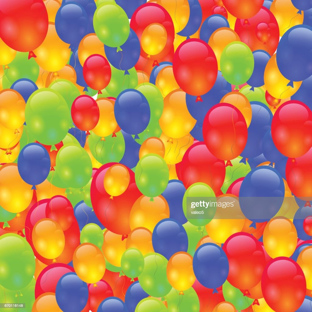 Colorful Ballons Background