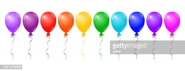 colorful balloons on white background - carnival celebration event stock illustrations, clip art, cartoons, & icons