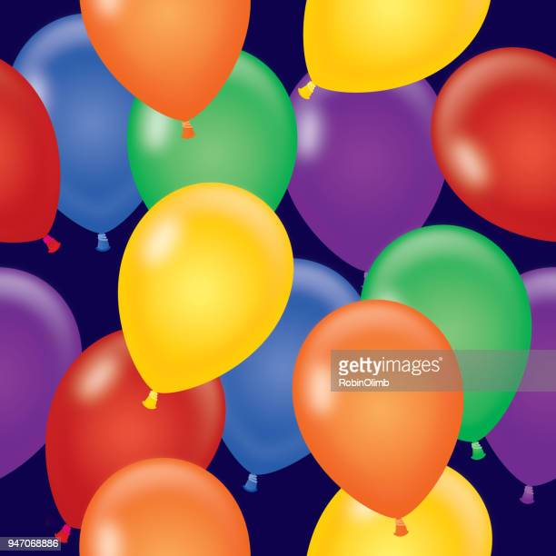 illustrations, cliparts, dessins animés et icônes de ballons colorés sans soudure - ballon de baudruche