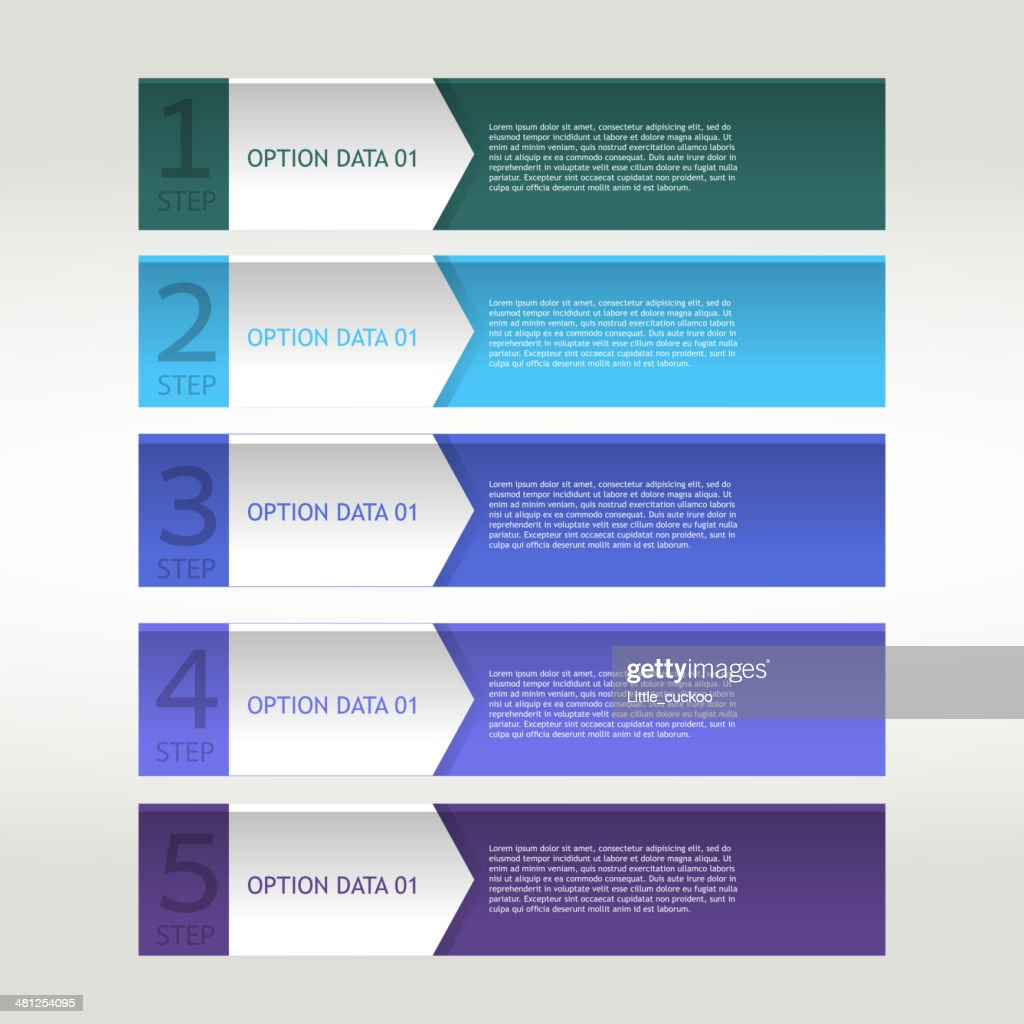 Colorful banner ribbon. Element  for infographic