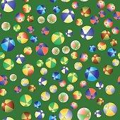 Colorful Beach Balls Seamless Pattern