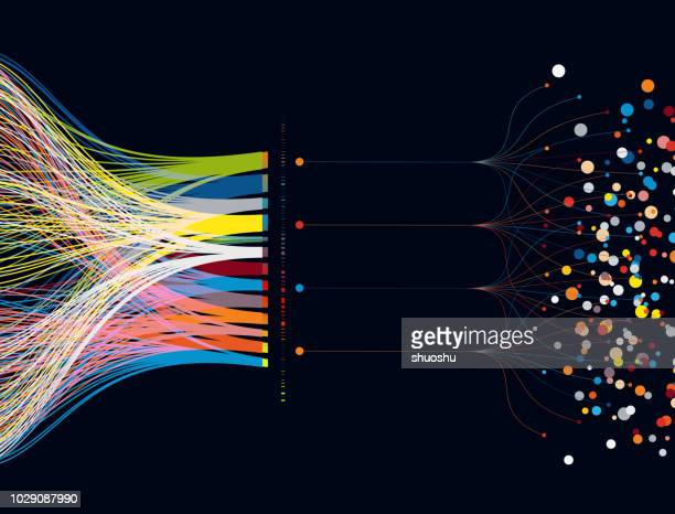 colorful big data pattern background