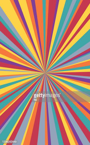 illustrazioni stock, clip art, cartoni animati e icone di tendenza di sfondo verticale astratto di colorful blast lines - effetto zoom