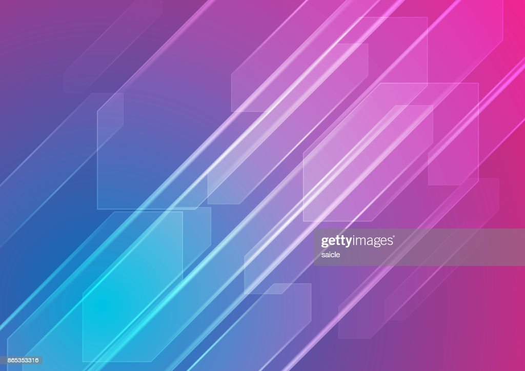 Colorful blue and purple abstract tech background