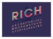 Colorful bold alphabet