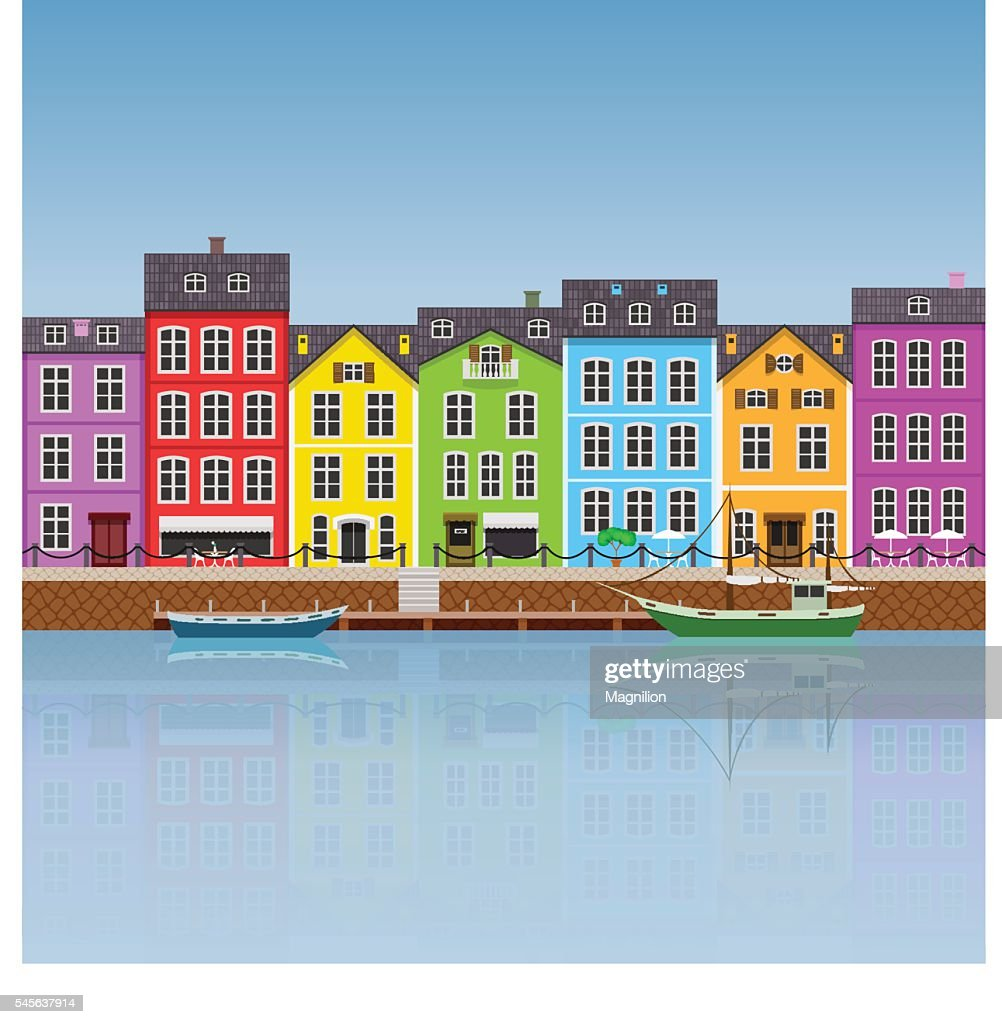 Colorful Buildings: Colorful Buildings Stock Vector
