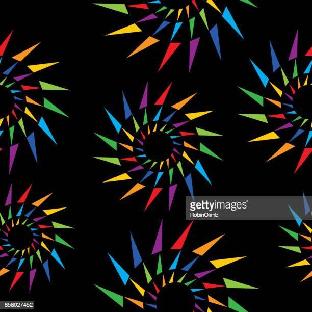 Kleurrijke uitbarstingen naadloze patroon