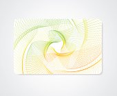 Colorful Business / Gift card template with abstract bright guilloche pattern