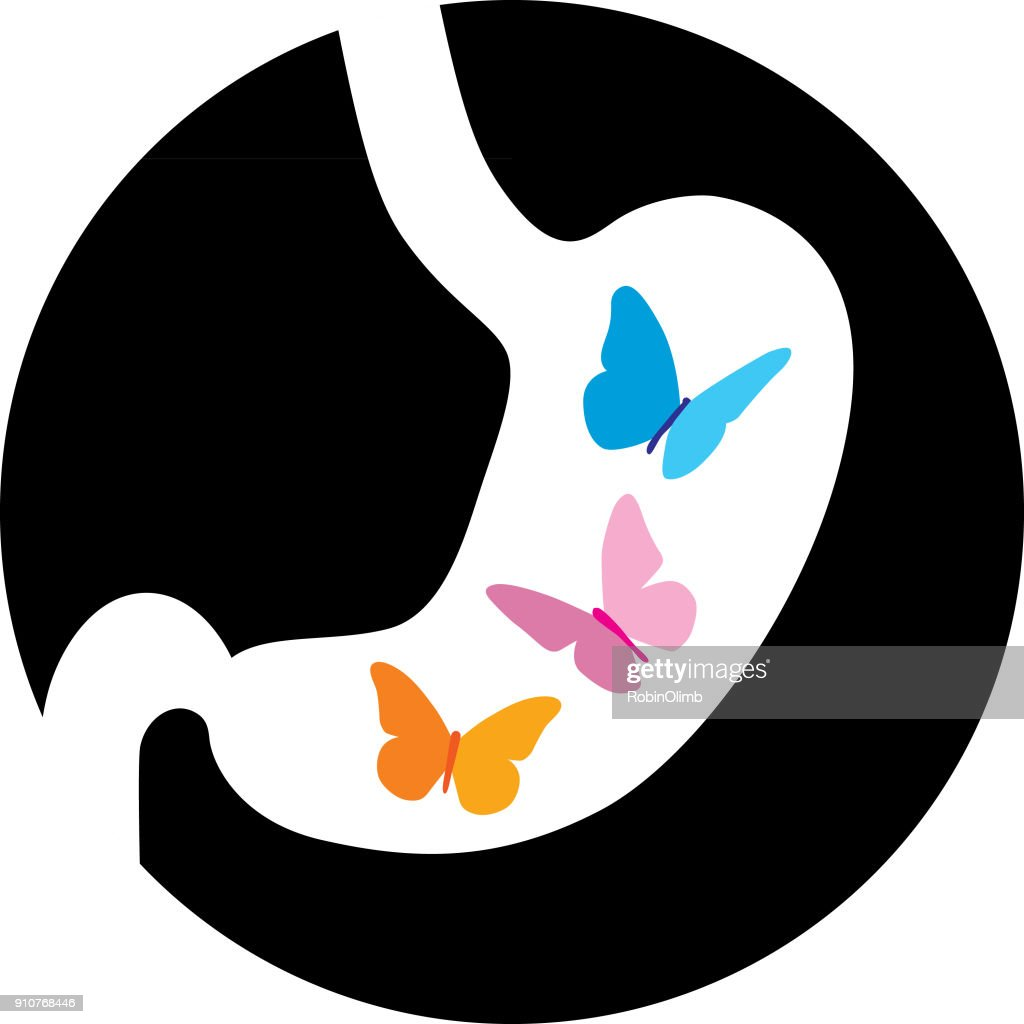 Colorful Butterflies In Stomach : stock illustration