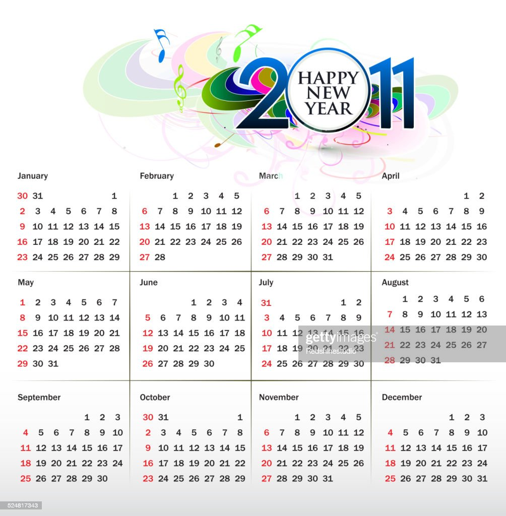 colorful calendar design