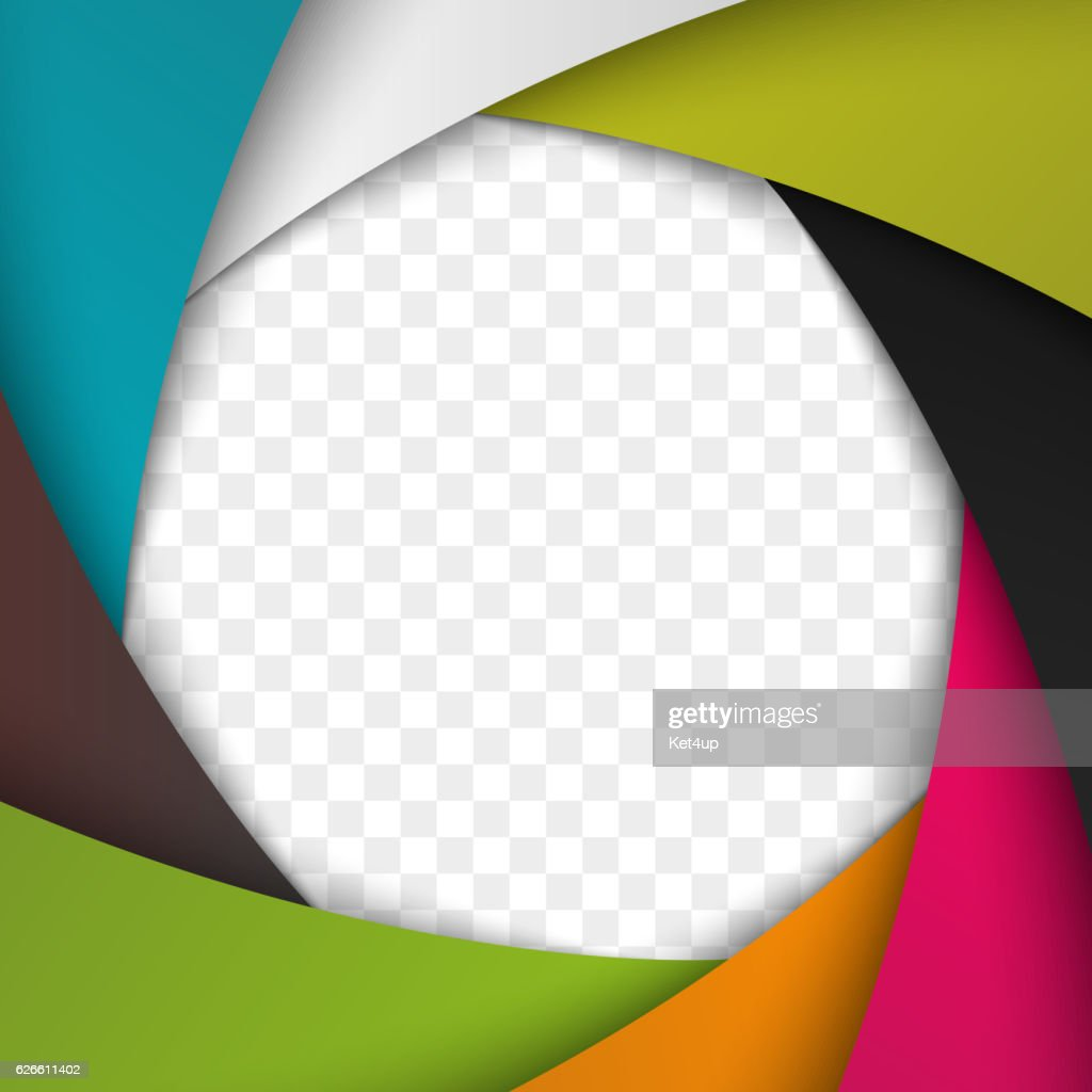 Colorful Camera Shutter Aperture. Vector background.