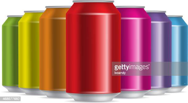colorful cans - drink can stock illustrations, clip art, cartoons, & icons
