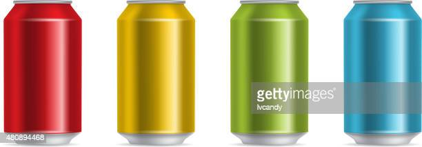 colorful cans - can stock illustrations