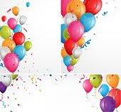 Colorful celebration balloons background
