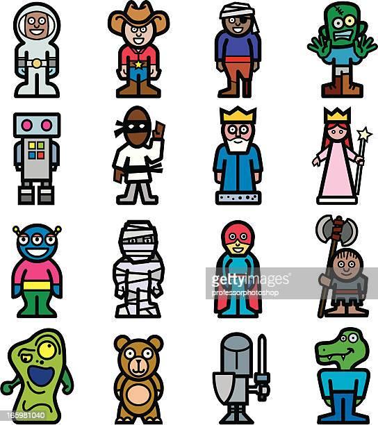ilustrações, clipart, desenhos animados e ícones de colorido de personagens - knight person