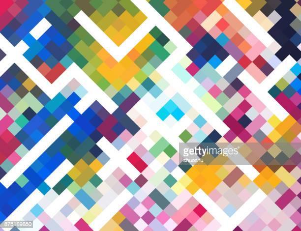 Check-bunte Mosaik Hintergrund
