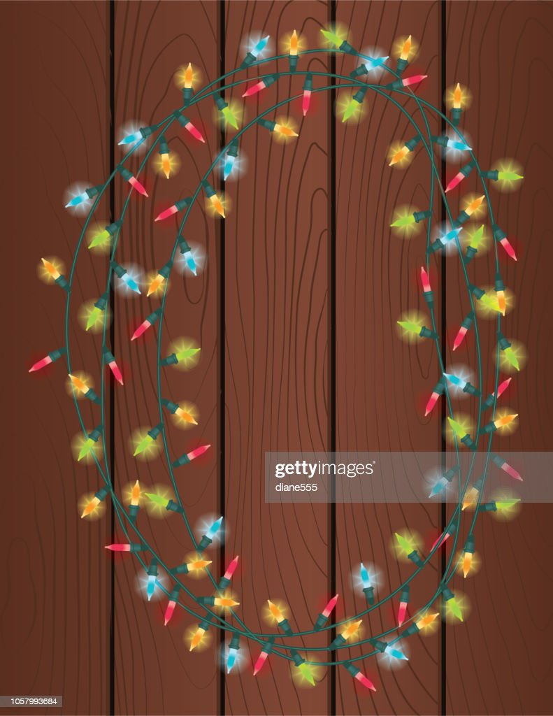 Colorful Christmas Lights Background.Colorful Christmas Lights Background Stock Illustration