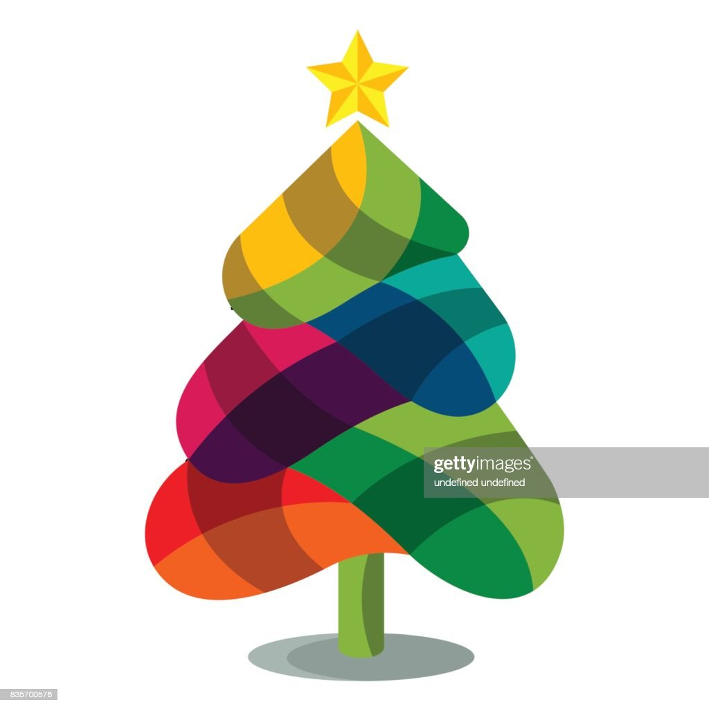 Colorful Christmas Trees Vector Art | Getty Images
