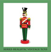 Colorful Christmas Wooden Soldier  , Series-Realistic vintage toys
