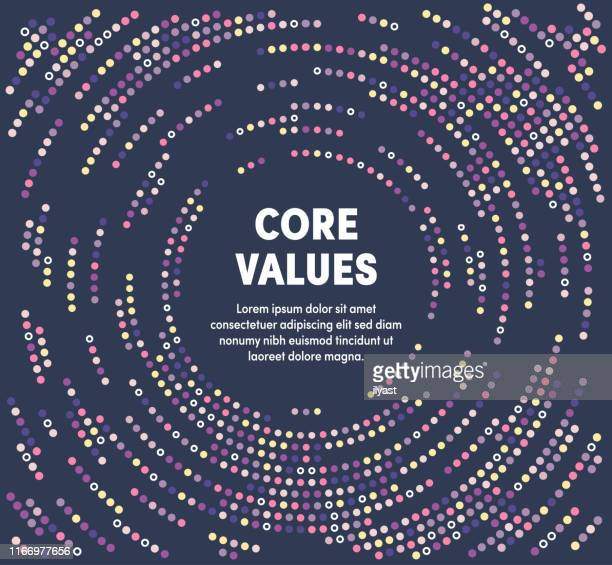 colorful circular motion illustration for core values - trust stock illustrations