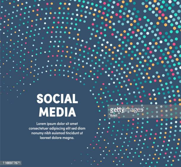 colorful circular motion illustration for social media - wireless technology stock illustrations