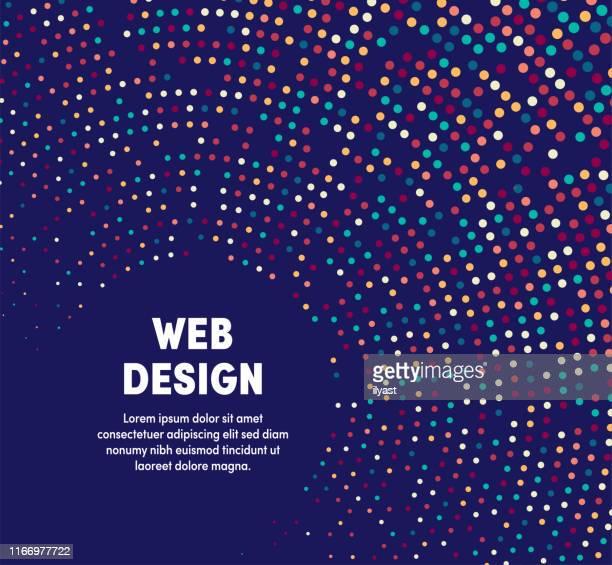 bunte kreisförmige bewegungsillustration für webdesign - programmierer stock-grafiken, -clipart, -cartoons und -symbole