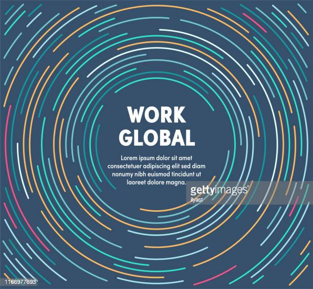 colorful circular motion illustration for work global - small business stock illustrations