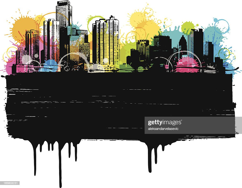 Colorful City Banner