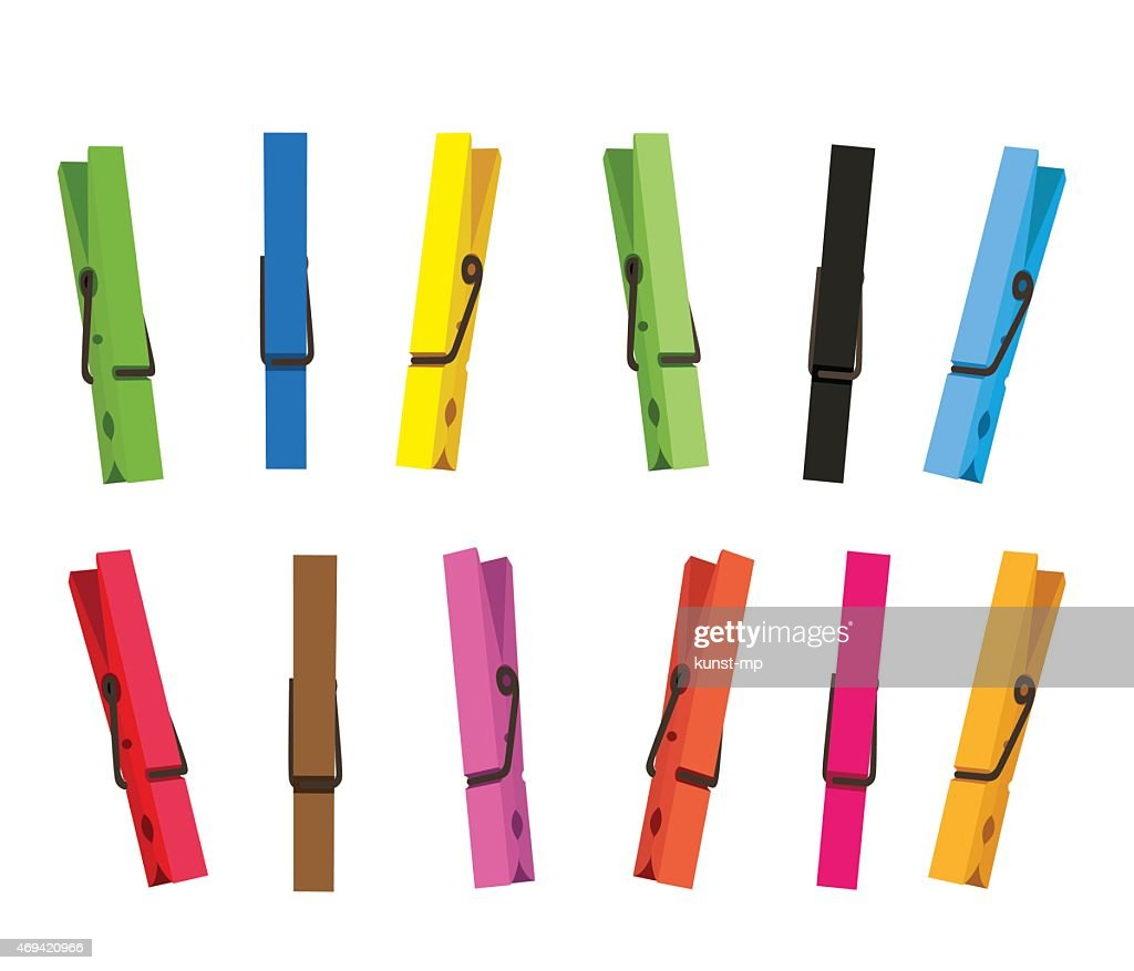 Colorful clothespin set