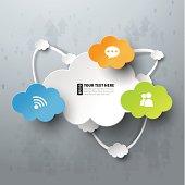 Colorful cloud computing vector illustration