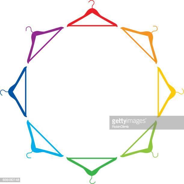 Colorful Coat Hanger Frame